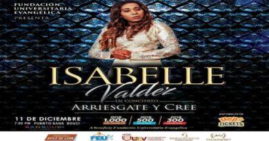 Isabelle Valdez realizara concierto a beneficio de estudiantes de escasos recursos.