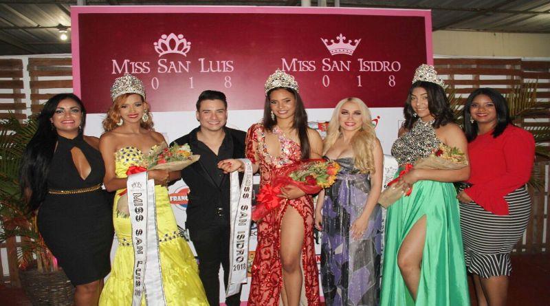 Coronan a las nuevas Soberanas de la belleza del Distrito Municipal San Luis.