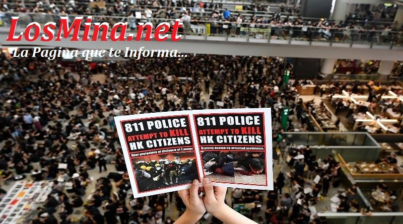 Vídeos: Protestas de Hong Kong paralizan aeropuerto y suspende todos sus vuelos