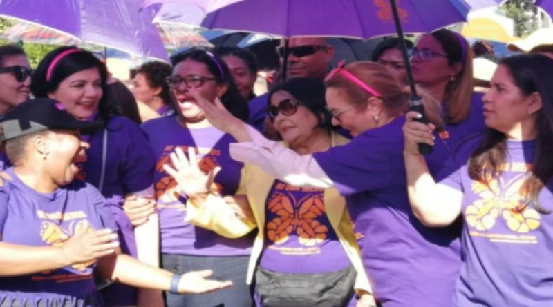 Secretaría de la Mujer del PLD se integra a la Marcha de las Mariposas