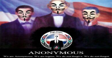 Anonymous RD publica en Facebook que Hakeo' la pagina oficial del PLD aseguran revelaran actos ilisitos de esta organización política en las próximas horas