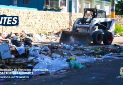 Video: Alcaldía de Santo Domingo Este ( ASDE ); y bomberos eliminan e higienizan basurero de más de 20 años